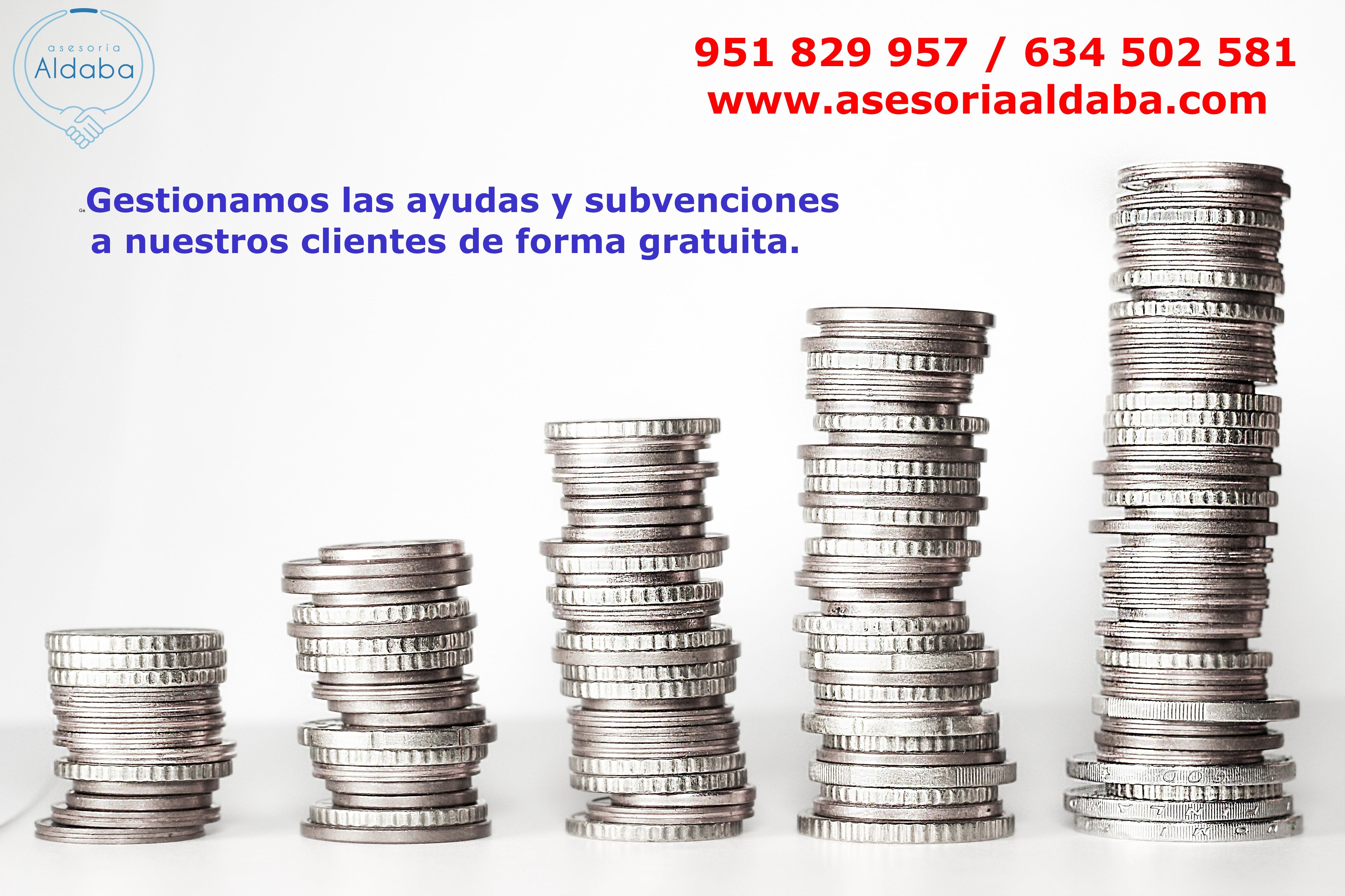 Subvenciones Asesoría Aldaba